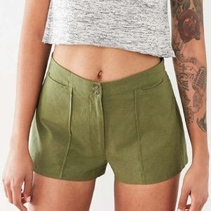Urban Outfitters Ecote Linen High Rise Shorts